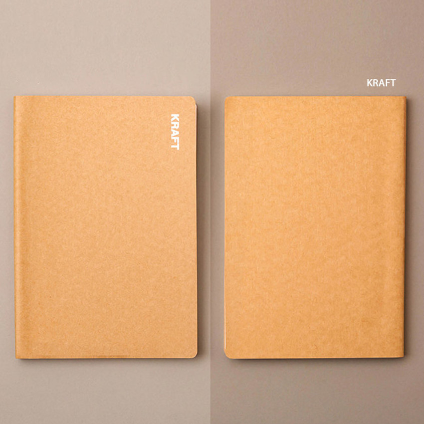 Kraft - Ardium B+W kraft softcover large lined notebook