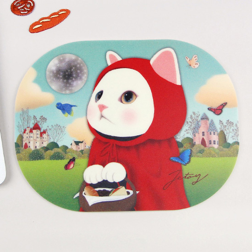 Red hood - Jetoy Choo Choo lovely cat mouse pad