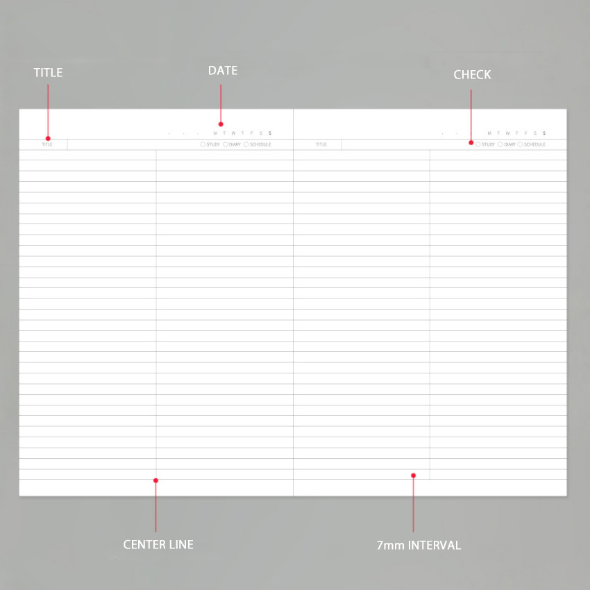 Composition - Lovable spiral bound lined notebook ver2