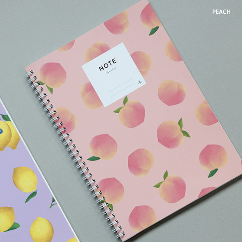 Peach - Lovable spiral bound lined notebook ver2