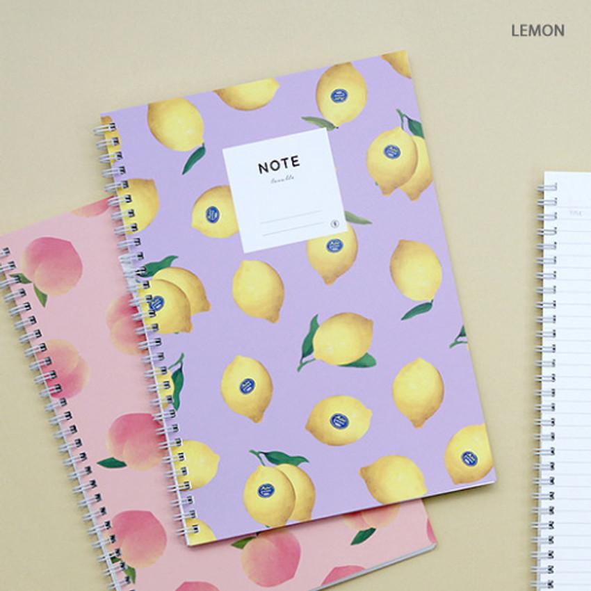 Lemon - Lovable spiral bound lined notebook ver2