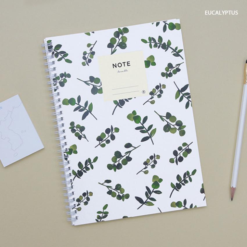 Eucalyptus - Lovable spiral bound lined notebook ver2