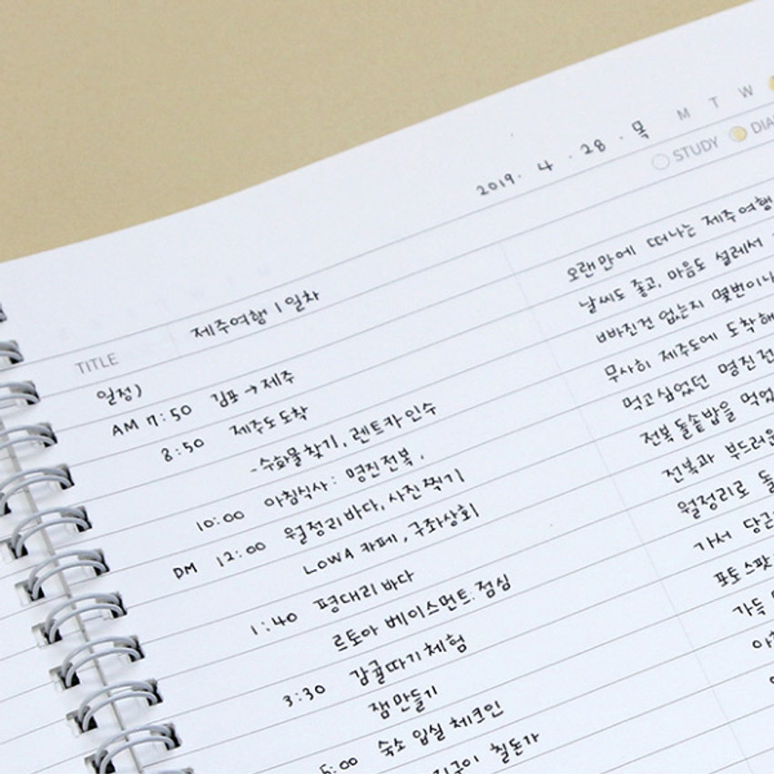 Example of use - Lovable spiral bound lined notebook ver2