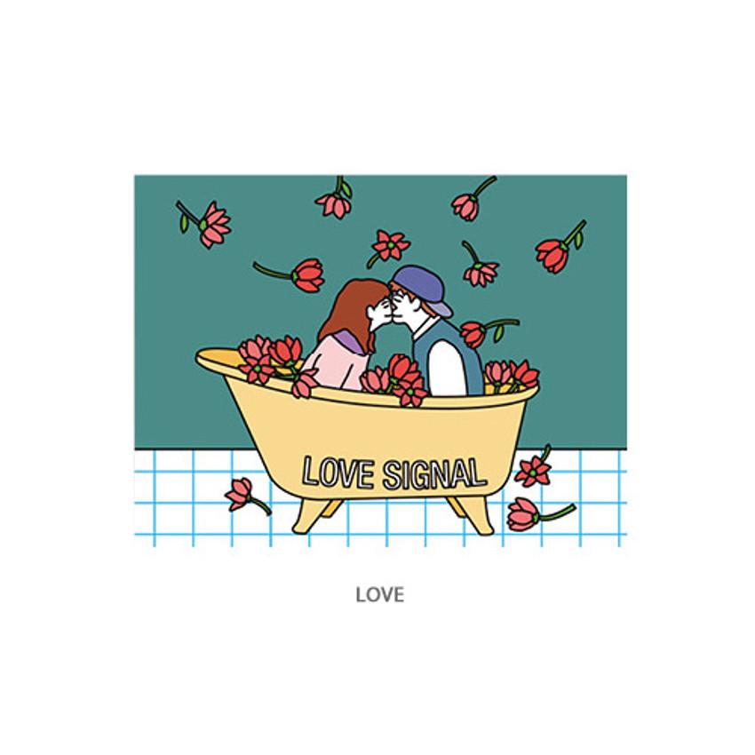 Love - Ardium Pop illustration message card envelope set