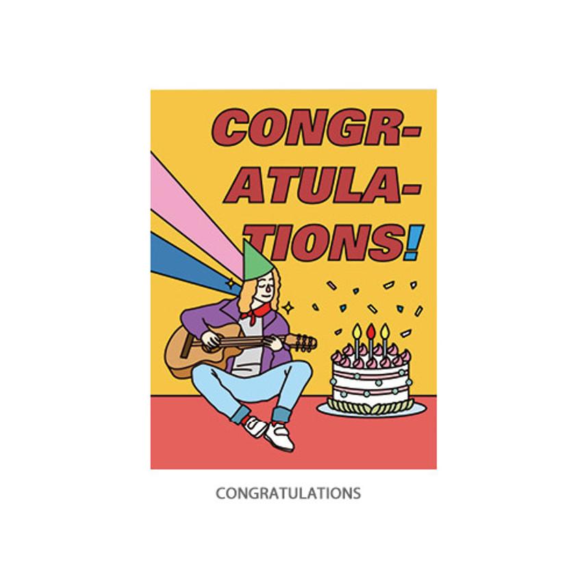 Congratulations - Ardium Pop illustration message card envelope set