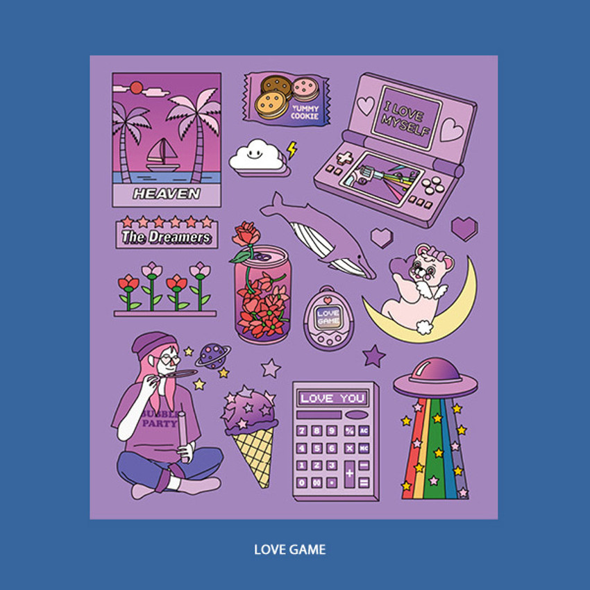 Love game - Ardium Pop illustration colorful point paper deco sticker