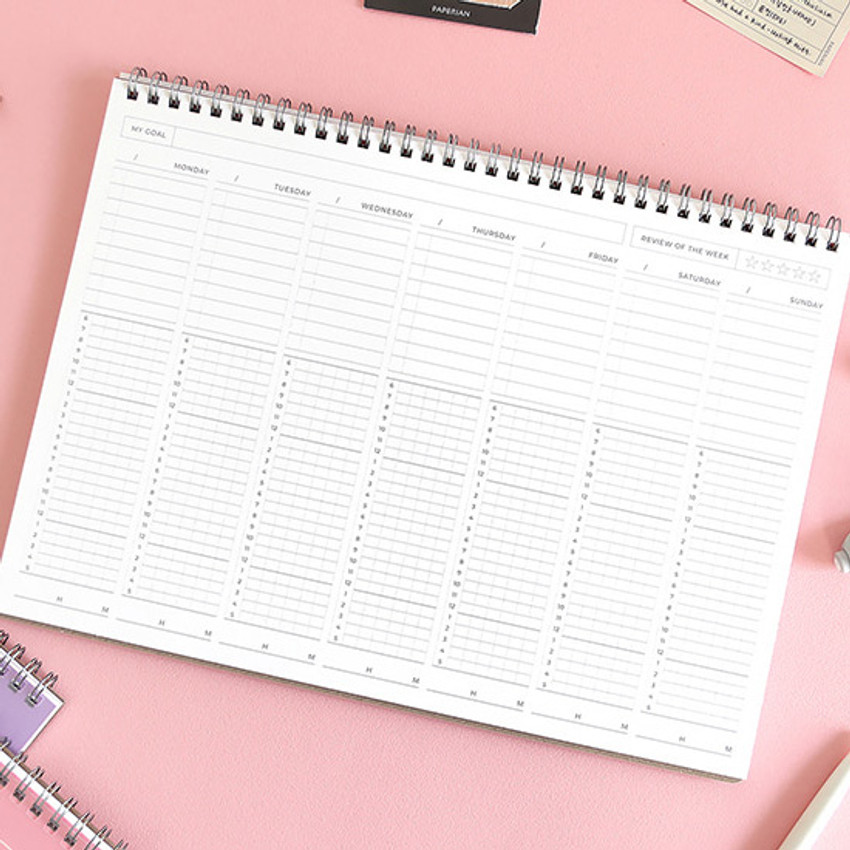 Example of use - Believe time tracker spiral dateless study planner