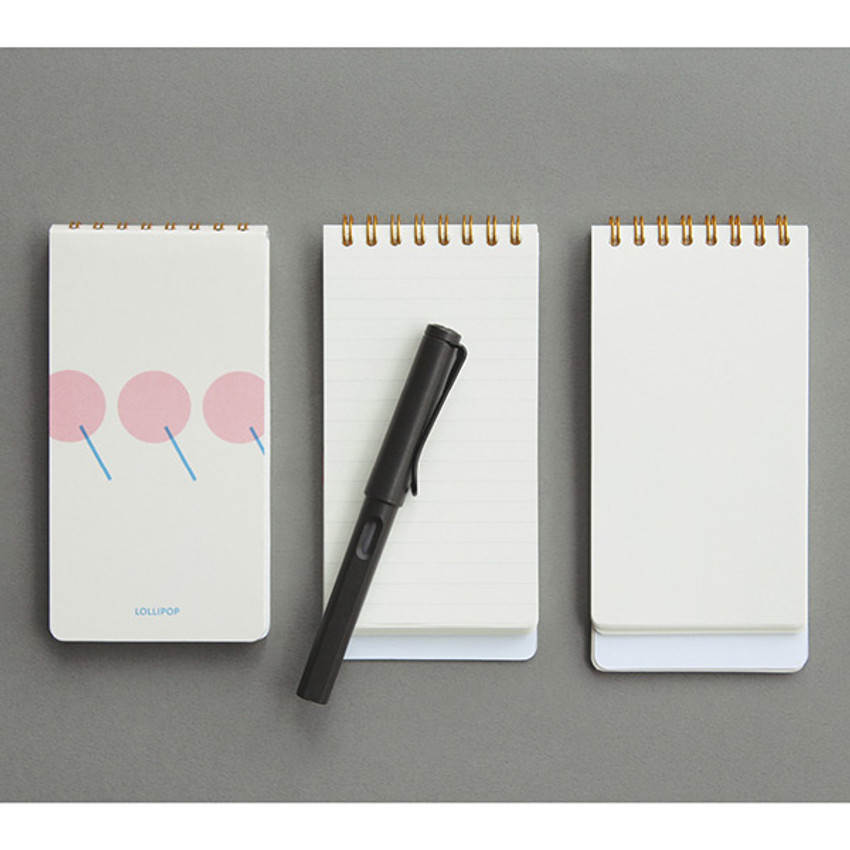 designlab kki Combination spiral small lined blank notebook