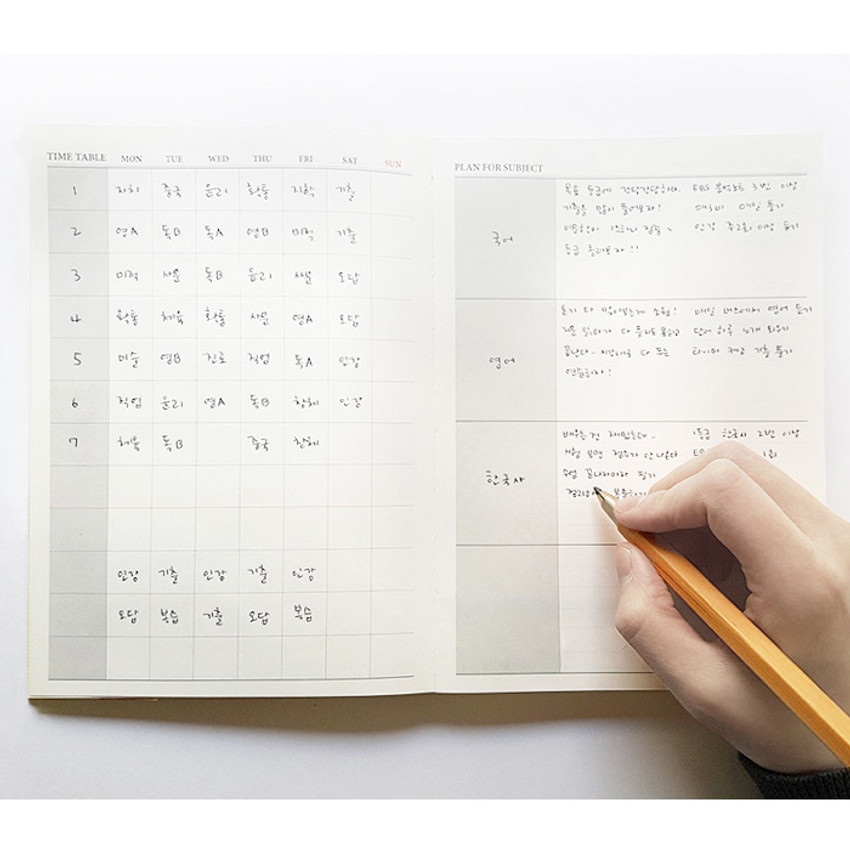 Time table & plan for subject - O-CHECK Spring come dateless 6 month study planner
