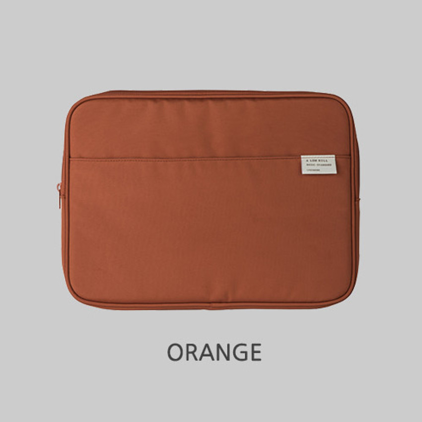 """Orange - A low hill basic pocket 13"""" laptop pouch case ver5"""
