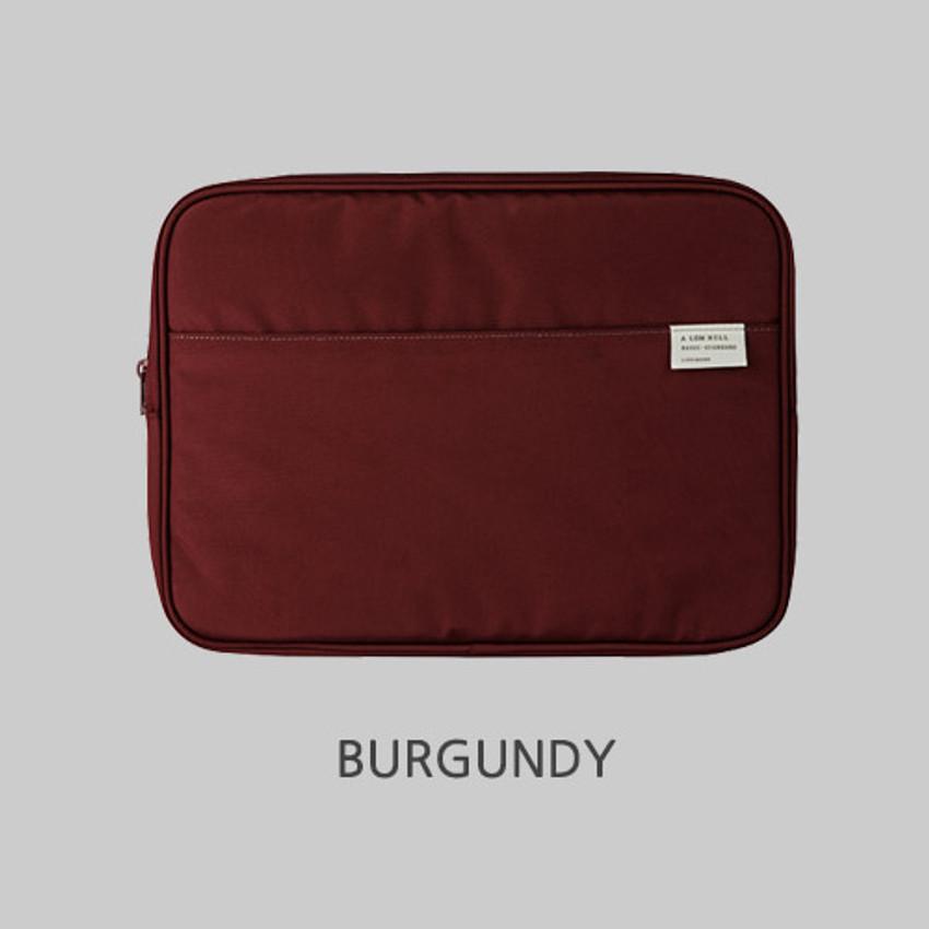 "Burgundy - A low hill basic pocket 13"" laptop pouch case ver5"