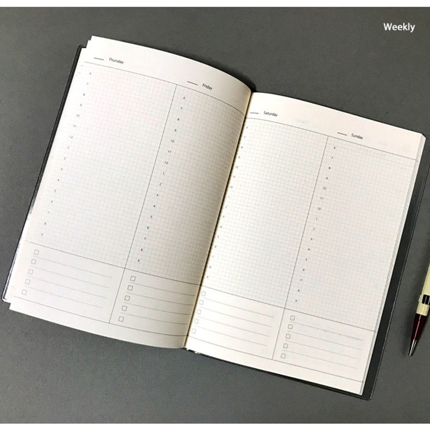 Weekly - Record 3 months dateless weekly diary