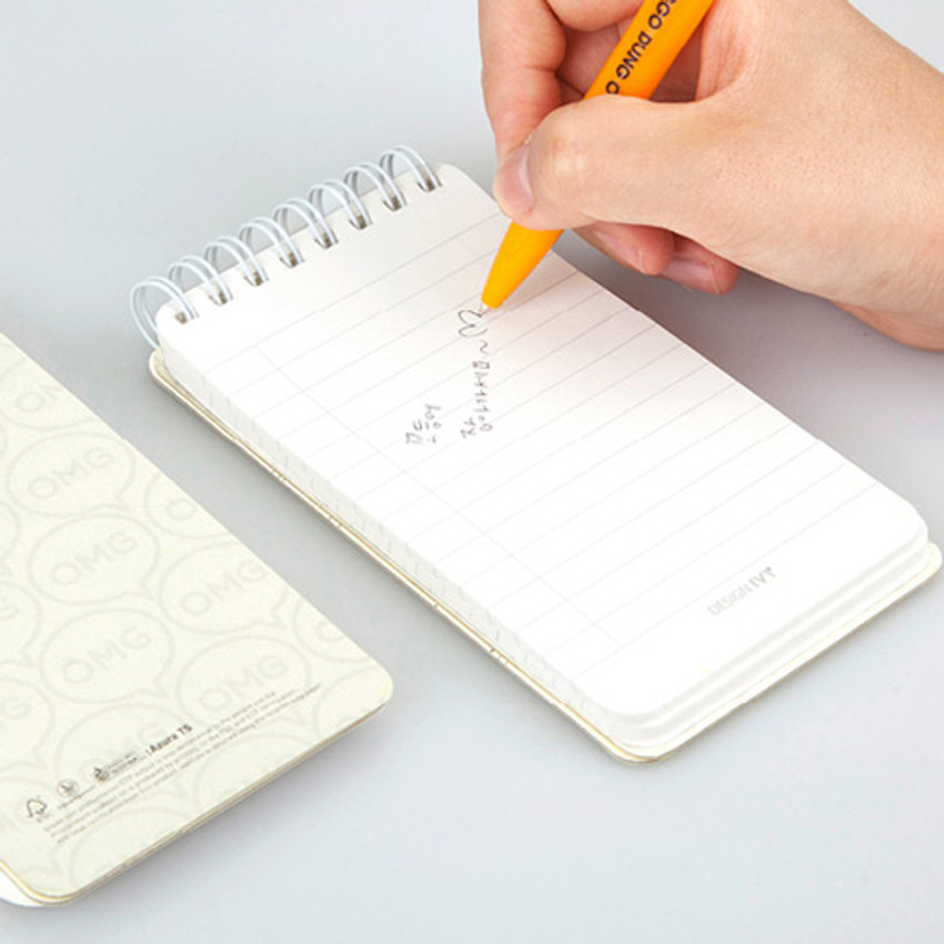 Example of use - Ggo deung o pocket spiral lined notepad