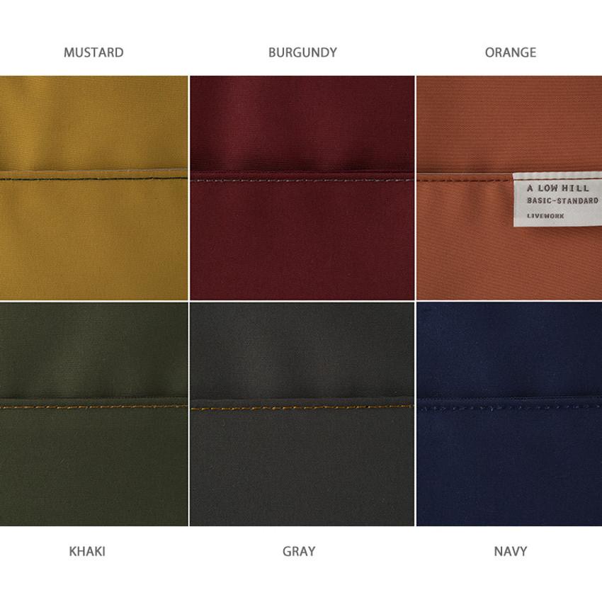 Color - A low hill basic pocket cable zipper pouch case ver5