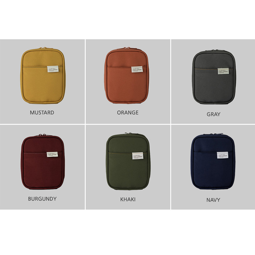 Colors of A low hill basic pocket cable zipper pouch case ver5