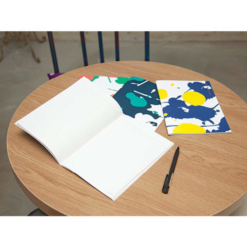 Lined notebook - Painting cover medium lined notebook