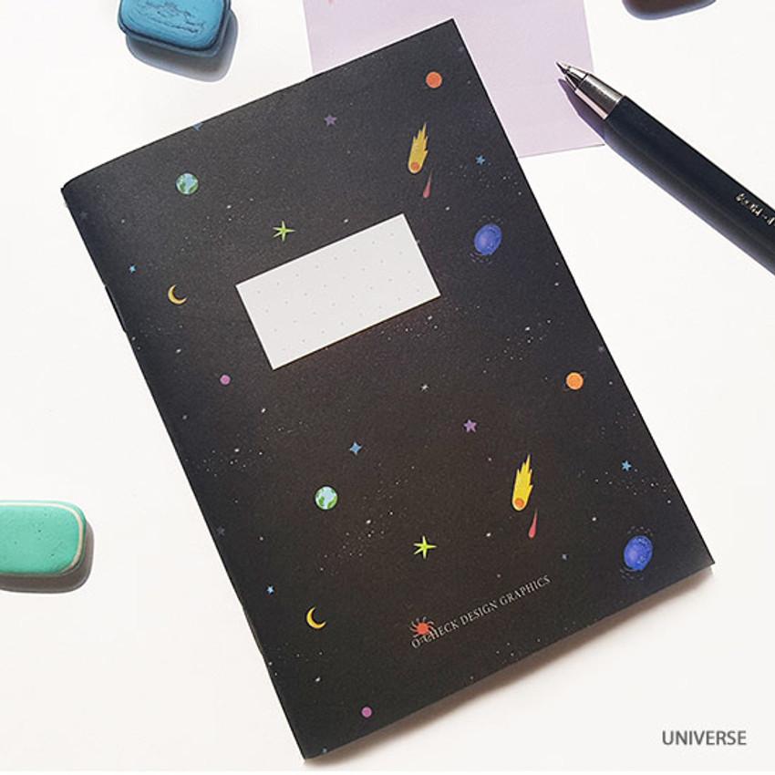 Universe - O-CHECK Spring come small dot school notebook
