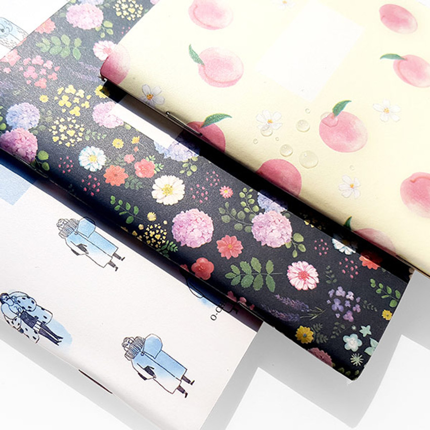 Water resistant - O-CHECK Spring come small blank school notebook