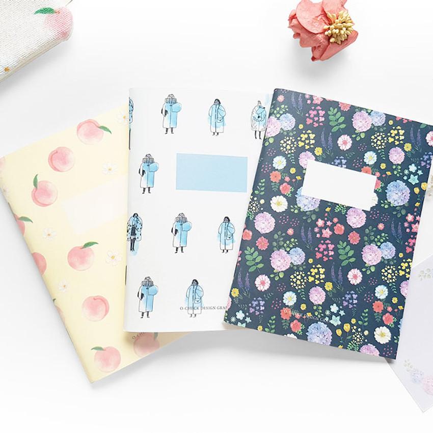 O-CHECK Spring come small blank school notebook