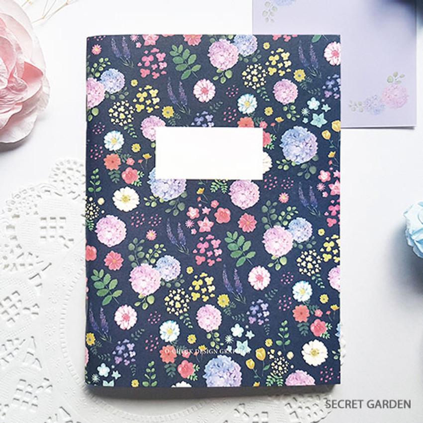 Secret garden - O-CHECK Spring come small blank school notebook