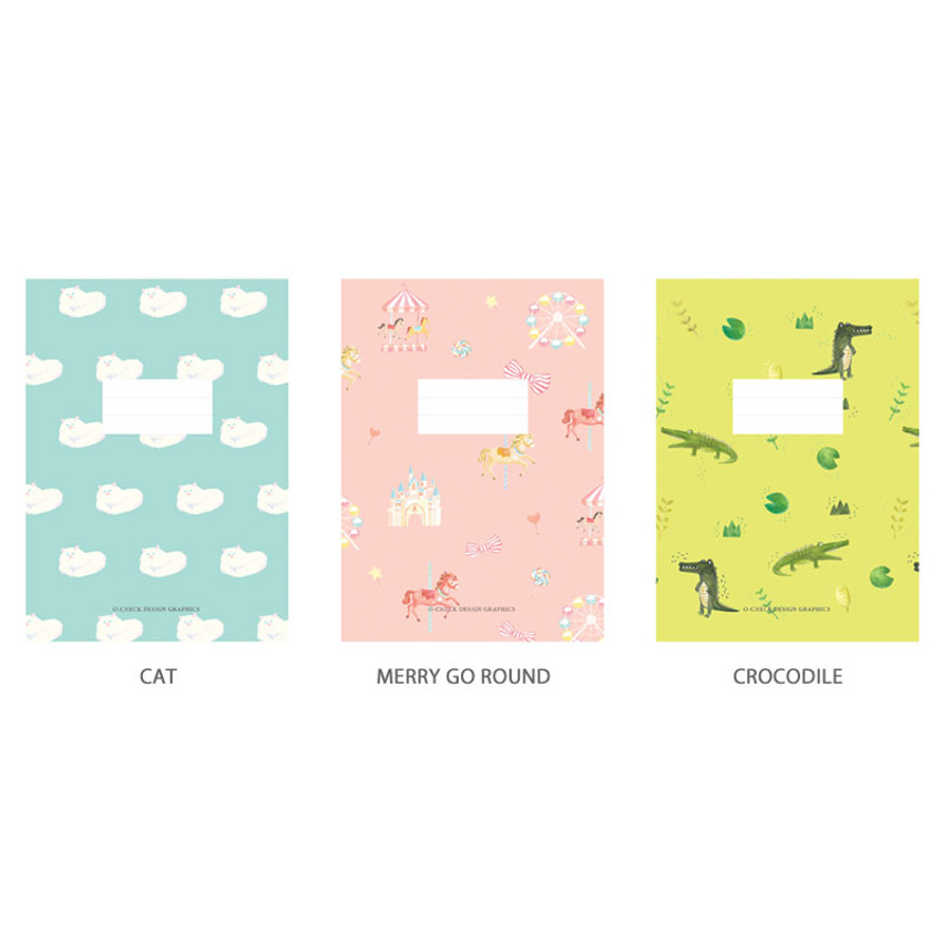 Option - O-CHECK Spring come small lined school notebook