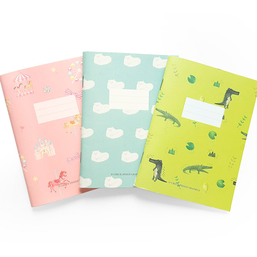 O-CHECK Spring come small lined school notebook