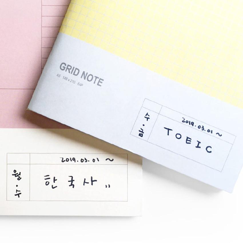 Example of use - O-CHECK Spring come medium school notebook