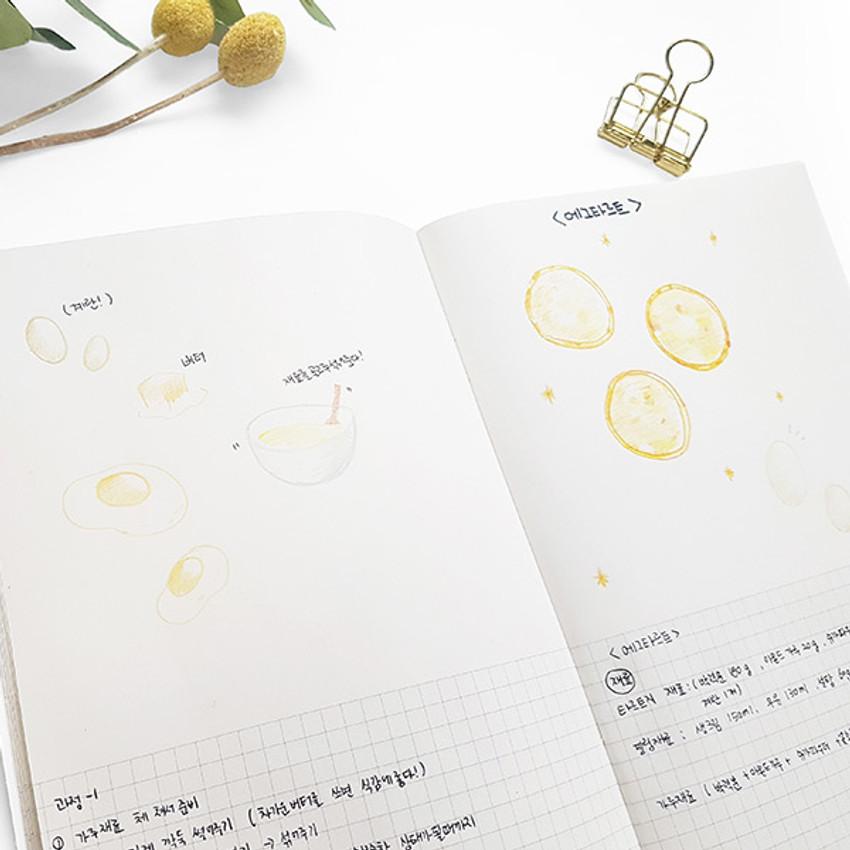 Half grid - O-CHECK Spring come medium school notebook