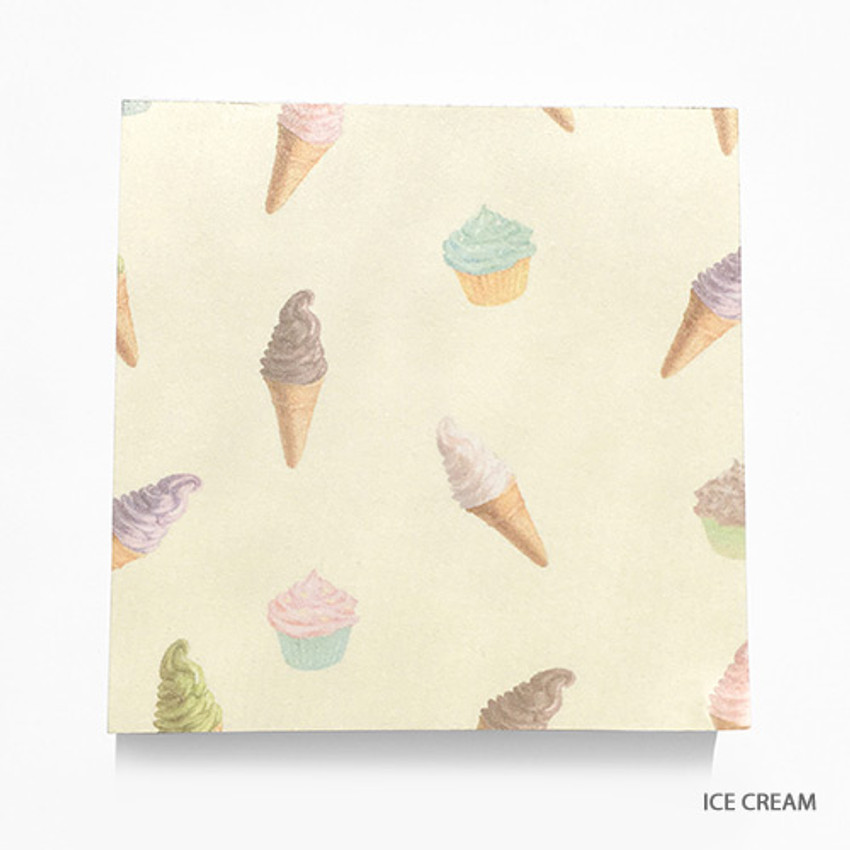 Ice cream - Vintage and cute illustration memo writing notepad