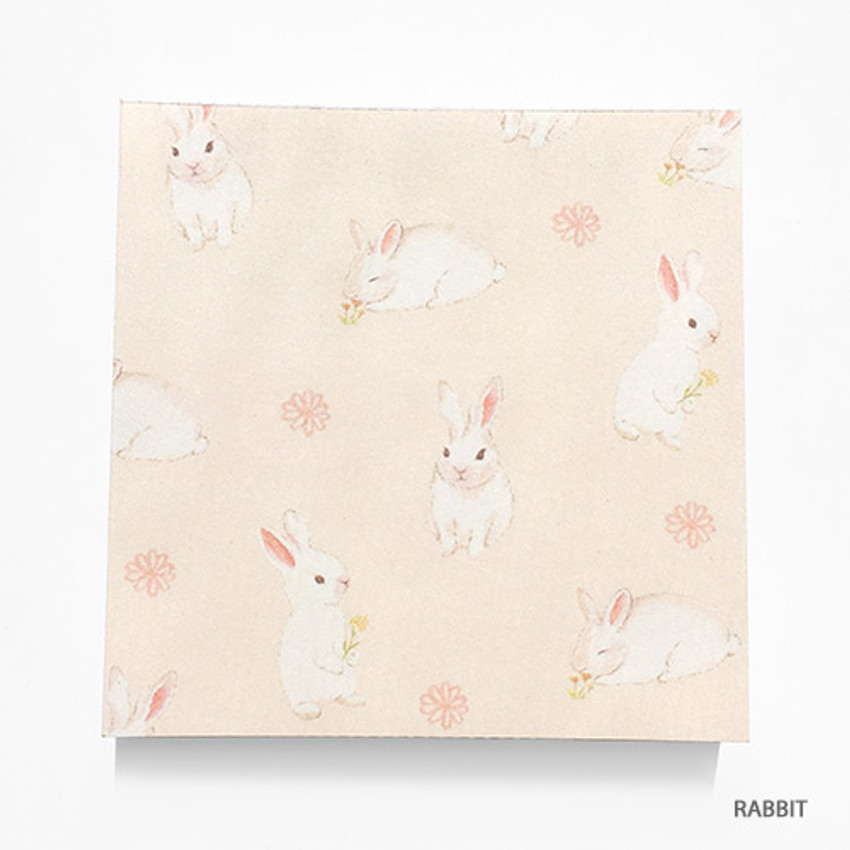 Rabbit - Vintage and cute illustration memo writing notepad