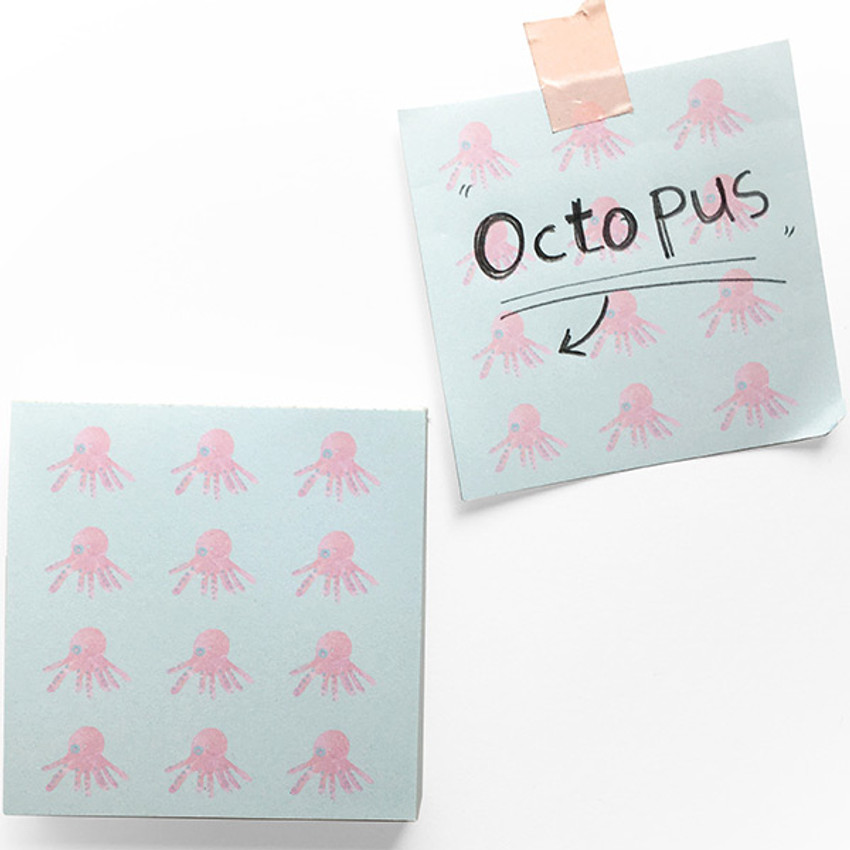 Octopus - Vintage and cute illustration memo writing notepad