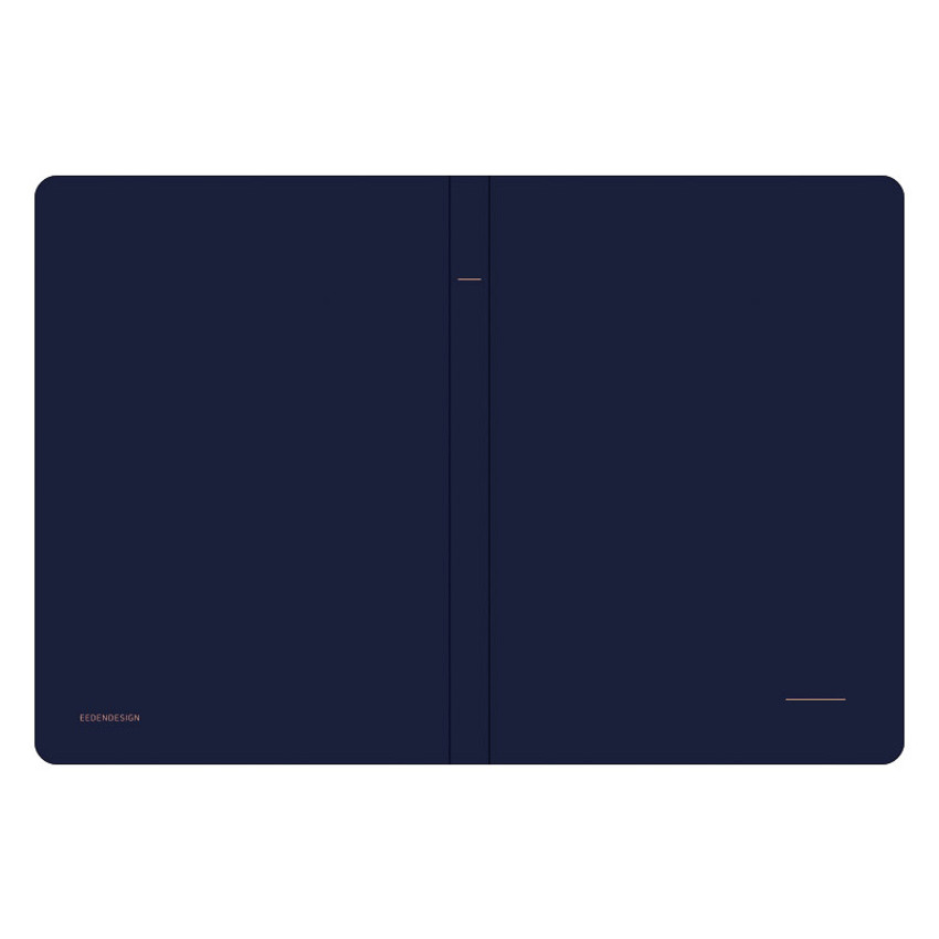 Cover - Simple B A5 lined soft cover notebook