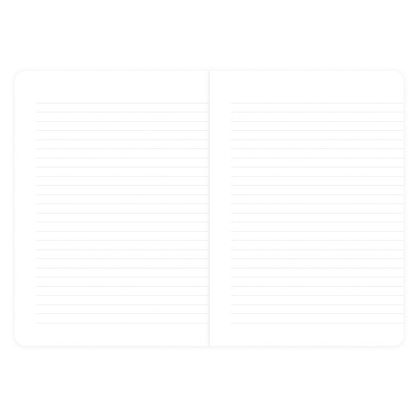 Simple B A5 lined soft cover notebook