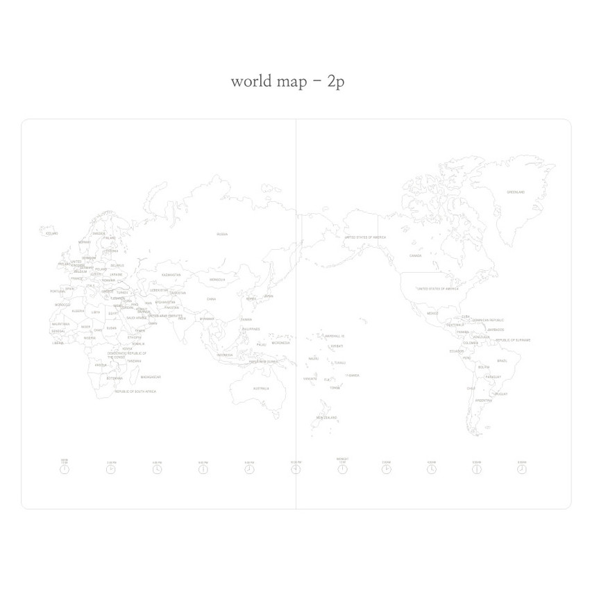 World map - Livework Moment small lined notebook ver3