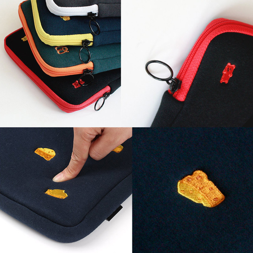 Tailorbird embroidered tablet PC iPad zip pouch ver4