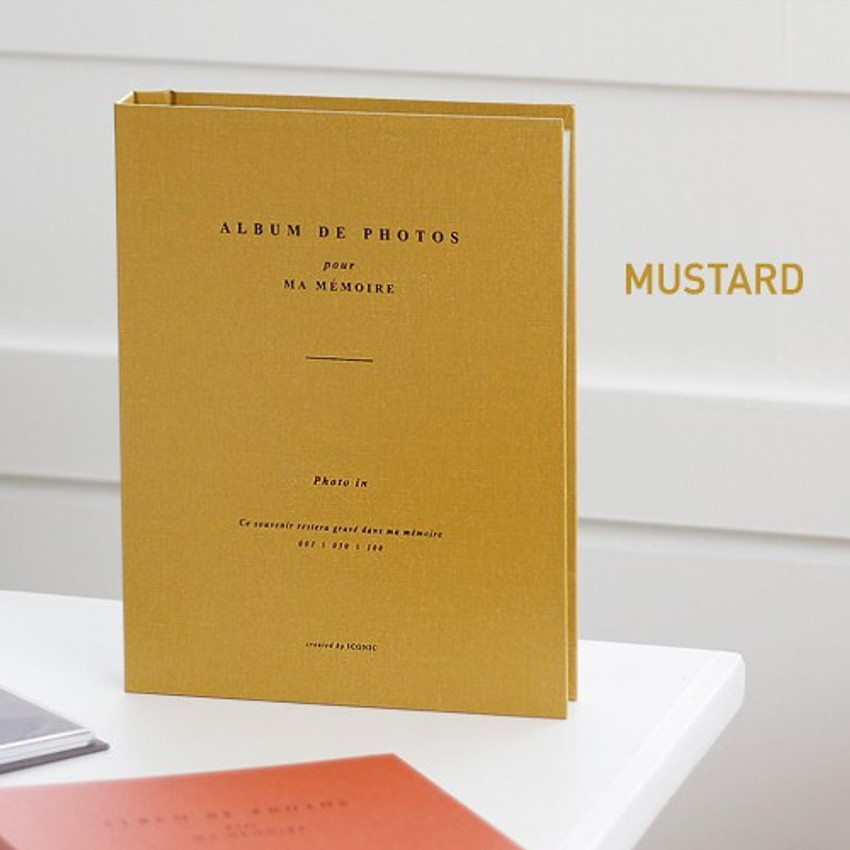 Mustard - Album de photos 4X6 slip in pocket photo album