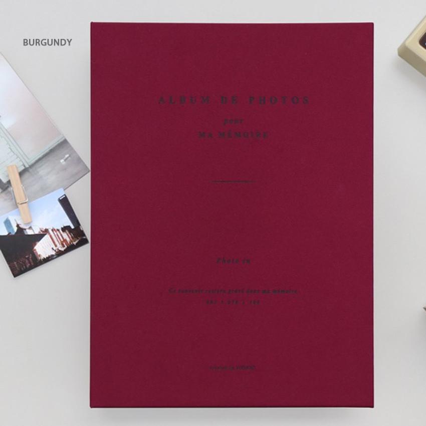 Burgundy - Album de photos 4X6 slip in pocket photo album