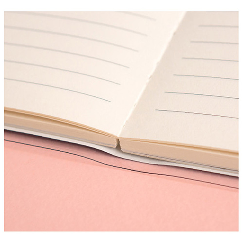 Open up to 180 degrees - Ardium Pocket large lined notebook with postcard