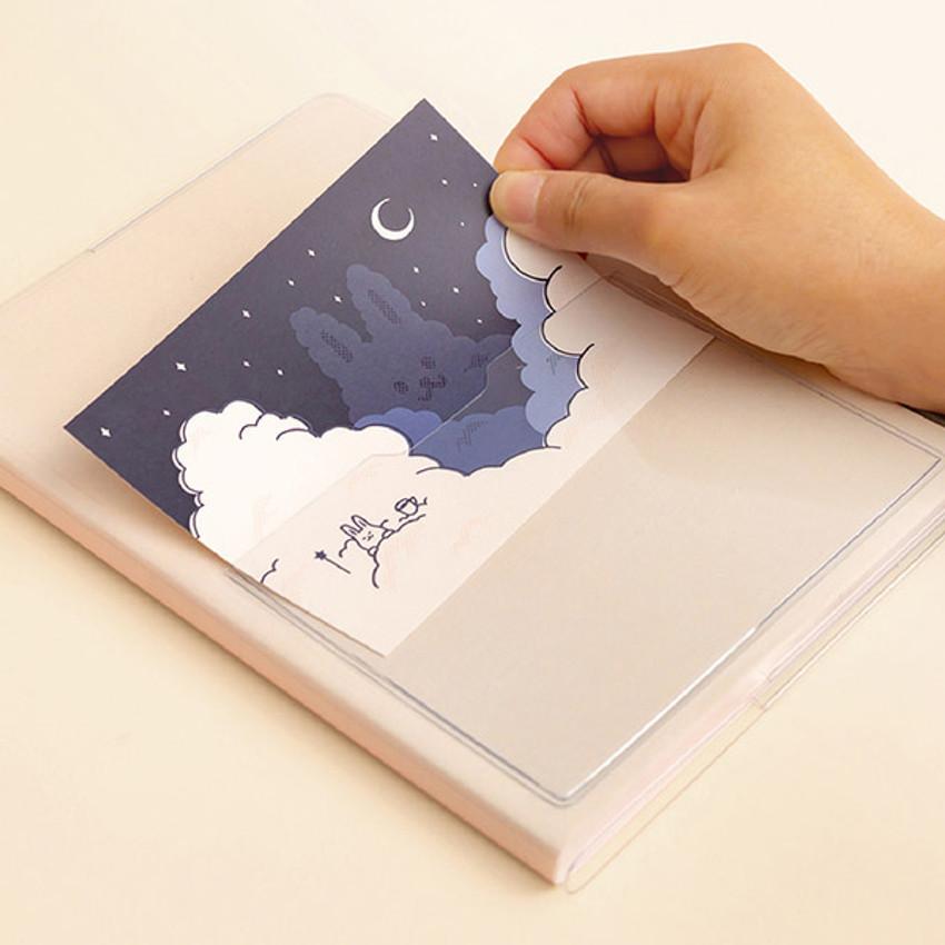Front pocket - Ardium Pocket large lined notebook with postcard