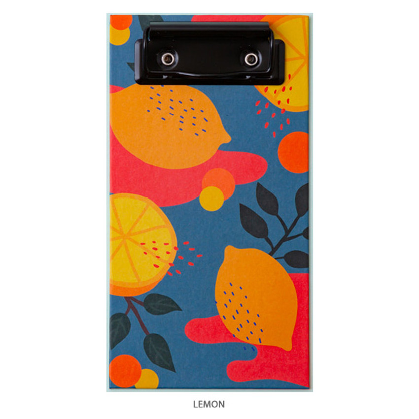 Lemon - Ardium Fruit pattern notepad clipboard file folder