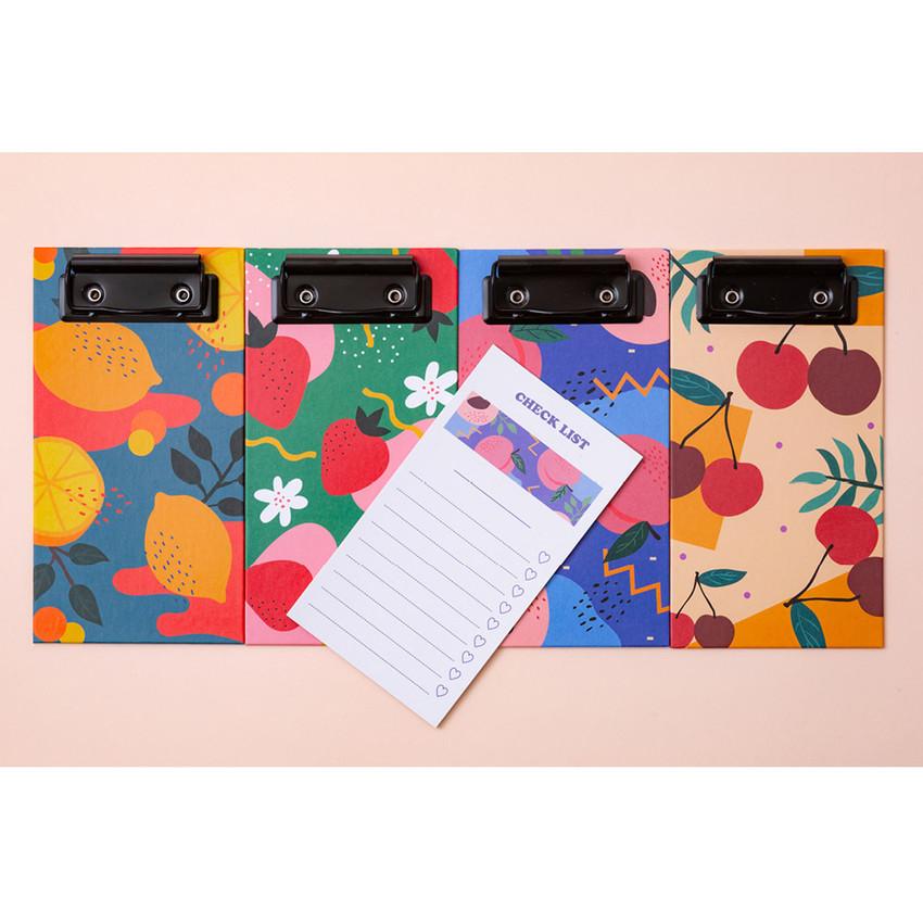 Ardium Fruit pattern notepad clipboard file folder