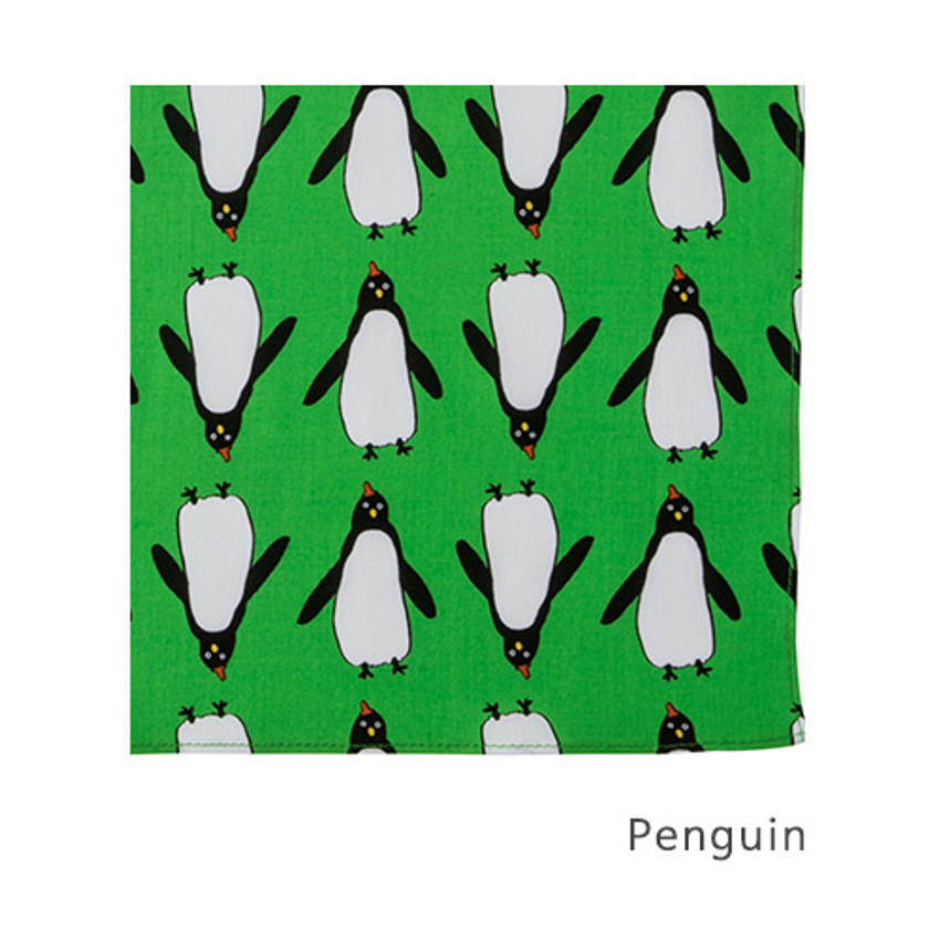 Penguin - Livework Illustration pattern squared edge hankie handkerchief