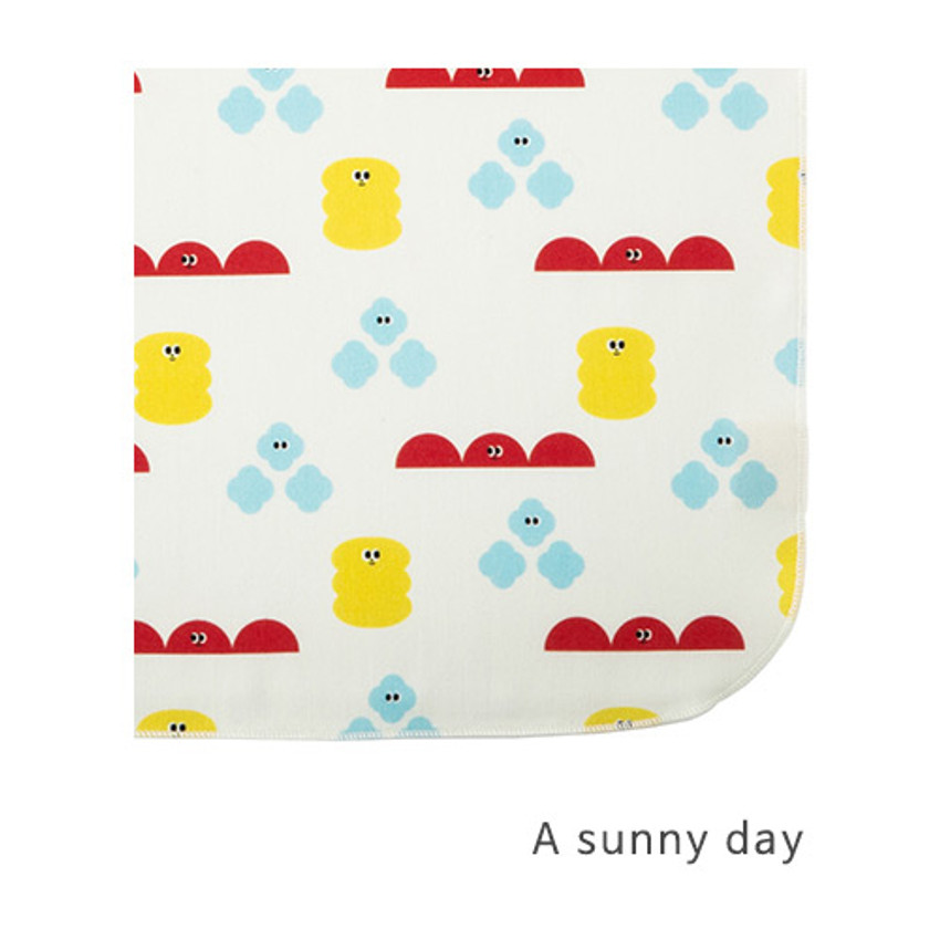 A sunny day - Livework Illustration pattern rounded edge hankie handkerchief