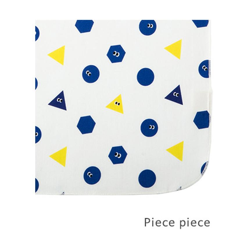 Piece piece - Livework Illustration pattern rounded edge hankie handkerchief