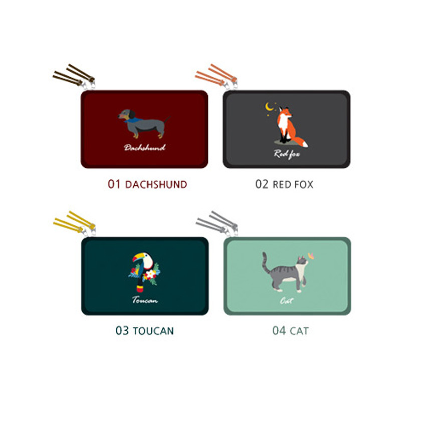 Option - Wanna This Tailorbird embroidered daily makeup pouch bag ver3