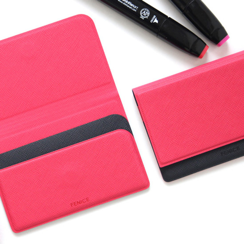 Example of use - Fenice Premium business PU cover card case pocket