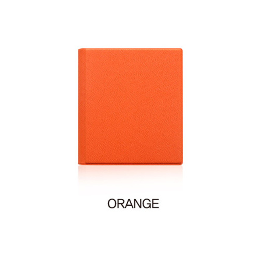 Orange - Fenice Premium PU business card book holder case