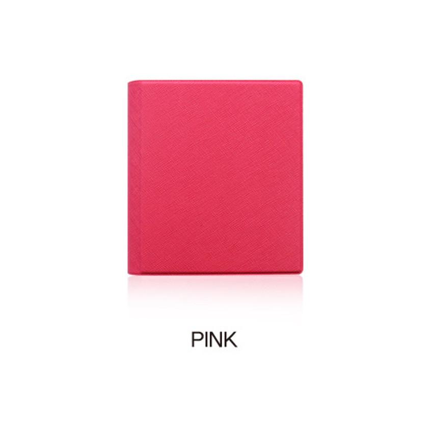 Pink - Fenice Premium PU business card book holder case