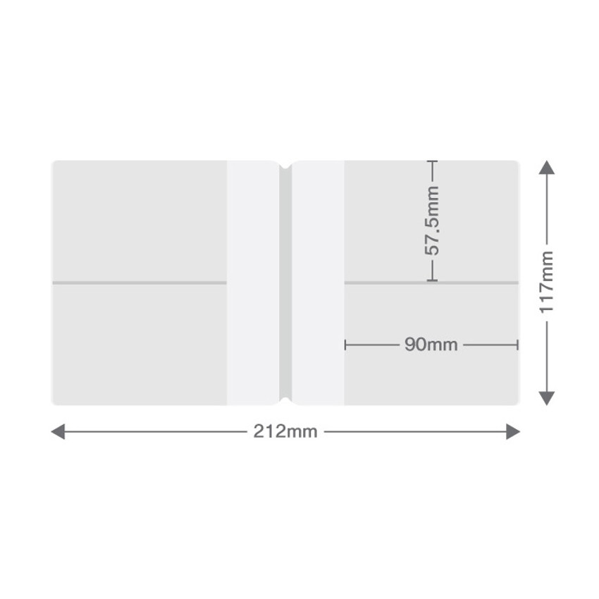 Size - Fenice Premium PU business card book holder case