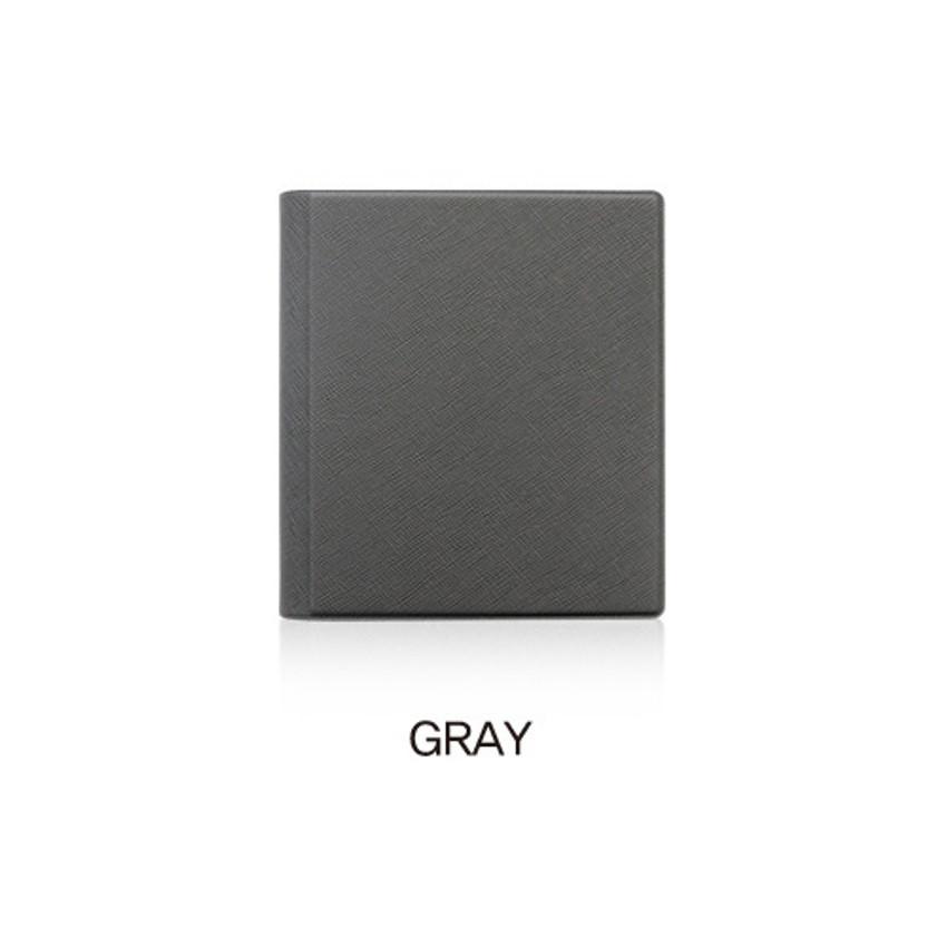 Gray - Fenice Premium PU business card book holder case